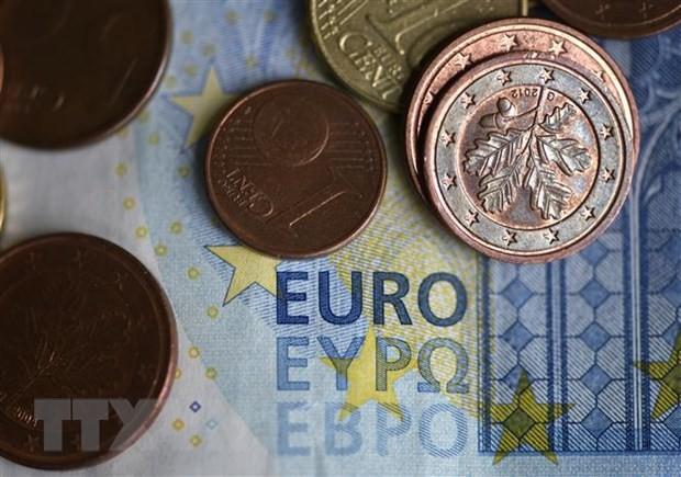 Đồng tiền euro tại Dortmund, miền Tây nước Đức. (Ảnh: AFP/TTXVN)