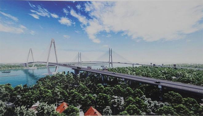 Thi công dự án cầu hơn 5.000 tỷ đồng bắc qua sông Tiền ảnh 1