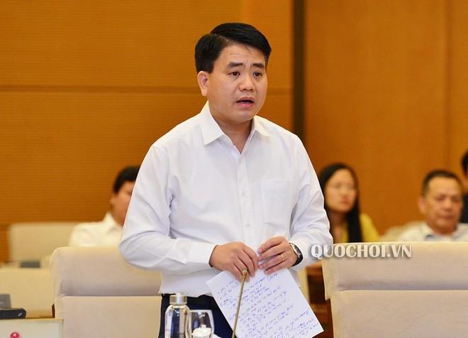 Ông Nguyễn Đức Chung trong một phiên họp của Ủy ban Thường vụ Quốc hội.
