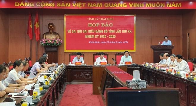 Đại hội Đảng bộ tỉnh Thái Bình lần thứ XX, nhiệm kỳ 2020 – 2025 sẽ diễn ra trong 3 ngày 13. 14 và 15-10.