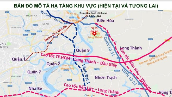 Bình đồ tuyến cao tốc Biên Hòa - Vũng Tàu.