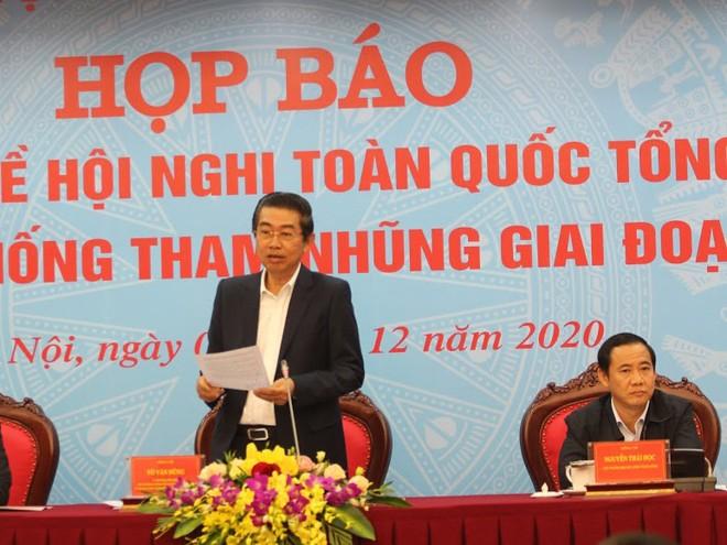 Lãnh đạo Ban Nội chính Trung ương chủ trì họp báo.