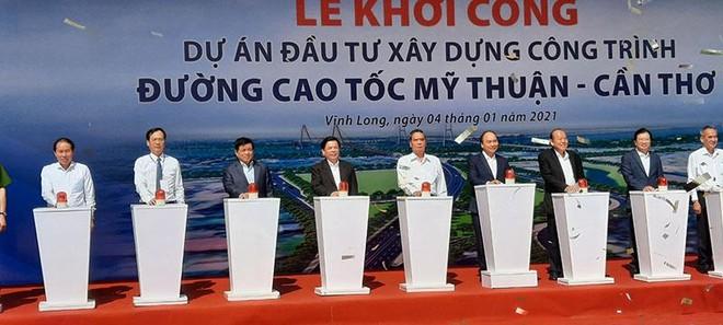 Khởi công xây dựng Dự án đường cao tốc Mỹ Thuận - Cần Thơ ảnh 1