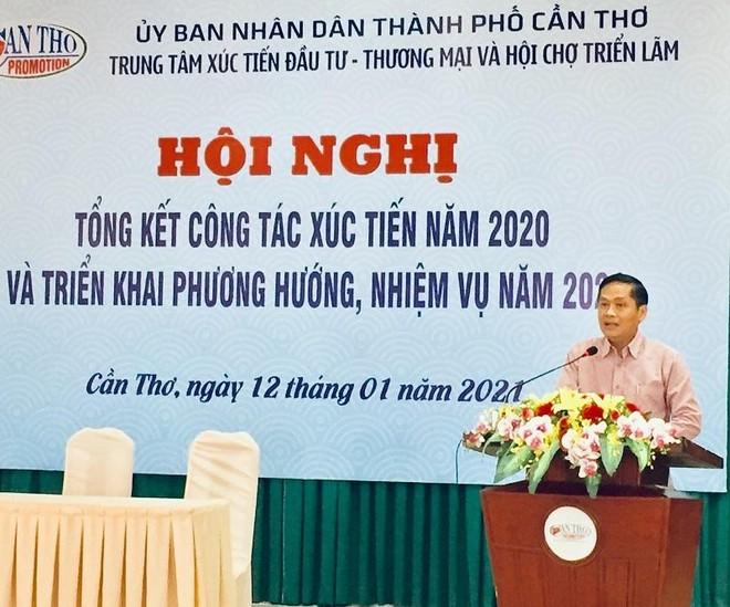 Ông Nguyễn Văn Hồng - Phó Chủ tịch UBND TP Cần Thơ tại hội nghị tổng kết Trung tâm Xúc tiến đầu tư - Thương mại và Hội chợ triển lãm Cần Thơ 2020.