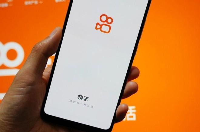 Giao diện ứng dụng Kuaishou trên điện thoại di động. Ảnh: AFP