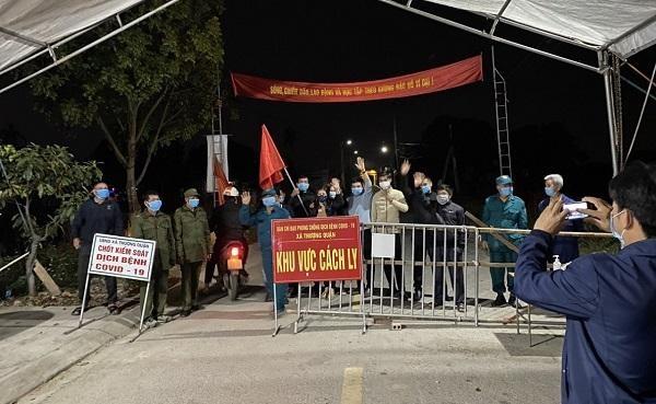 Nhiều xã, thôn, khu, cụm dân cư tại thị xã Kinh Môn kết thúc thời gian cách ly y tế