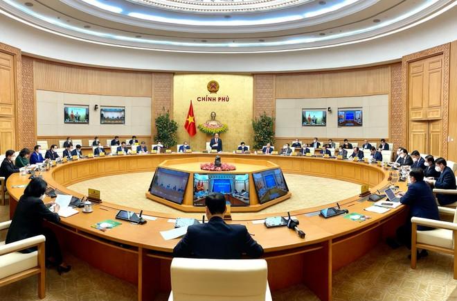 Phiên họp Chính phủ thường kỳ tháng 2/2021 (Ảnh: VGP)