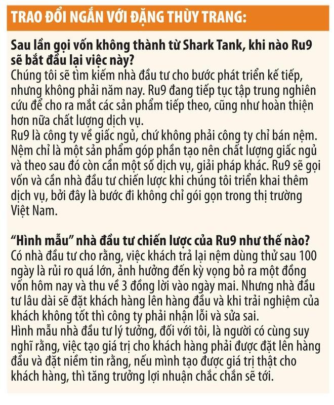 """Đặng Thuỳ Trang, nhà sáng lập, Giám đốc điều hành Ru9: """"Mọi người xứng đáng có giấc ngủ ngon"""" ảnh 1"""