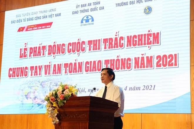 Tổng biên tập Báo Điện tử Đảng cộng sản Viêt Nam phát biểu tại sự kiện.