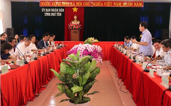Lãnh đạo tỉnh Phú Yên làm việc với đơn vị tài trợ quy hoạch và tư vấn quy hoạch