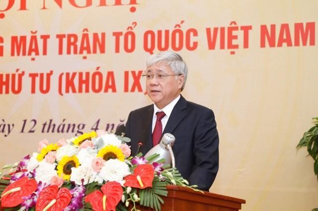 Chủ tịch Ủy ban Trung ương Mặt trận Tổ quốc Việt Nam, ông Đỗ Văn Chiến.