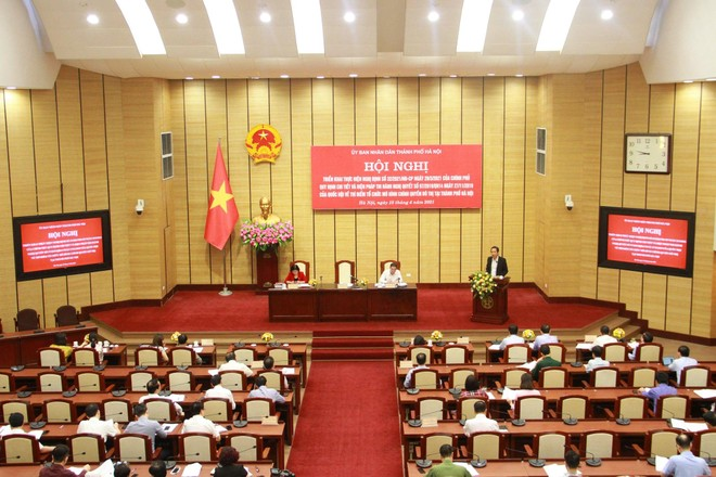 Hà Nội: Tổ chức chính quyền đô thị hướng đến mục tiêu tinh gọn bộ máy