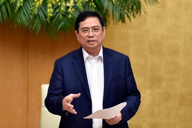 Thủ tướng Chính phủ Phạm Minh Chính phát biểu kết luận cuộc họp (Ảnh: Nhật Bắc)