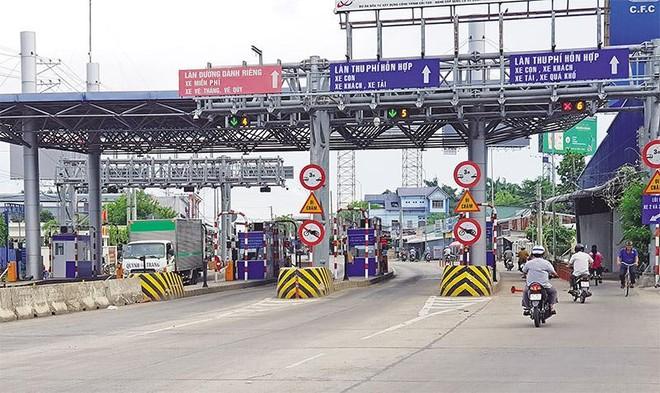 Trạm thu phí Dự án BOT mở rộng, nâng cấp Quốc lộ 14 qua tỉnh Đắk Lắk. Ảnh: A.M
