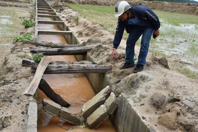 Công trình thủy lợi Pleikeo bị hư hỏng khi chưa nghiệm thu bàn giao - Ảnh: Hoàng Thanh