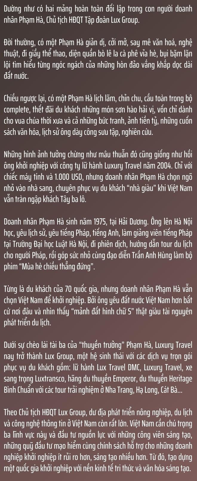 Chủ tịch Lux Group Phạm Hà: Chúng ta không thể thay đổi hướng gió, nhưng có thể thay đổi cánh buồm ảnh 2