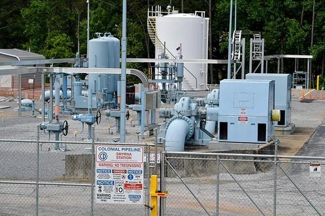 Một trạm vận chuyển nhiên liệu của Colonial Pipeline tại thành phố Smyrna, bang Georgia. Ảnh: AFP