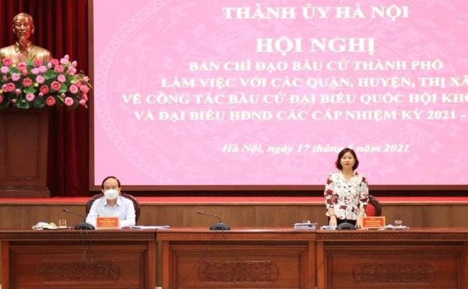 Phó Bí thư Thường trực Thành ủy Nguyễn Thị Tuyến phát biểu kết luận hội nghị