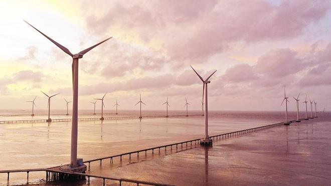 Việt Nam hiện mới có dự án điện gió gần bờ. Trong ảnh: Dự án điện gió Bạc Liêu. Ảnh: Đức Thanh