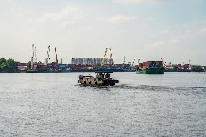 Nếu thực hiện thu phí hạ tầng cảng biển từ ngày 1/7 thì số thu dự kiến trong ba tháng (từ ngày 1/7 đến 30/9) là 723 tỷ đồng (ảnh: Hồng Phúc)