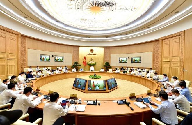 Một phiên họp của Chính phủ khoá XIV (Ảnh VGP).