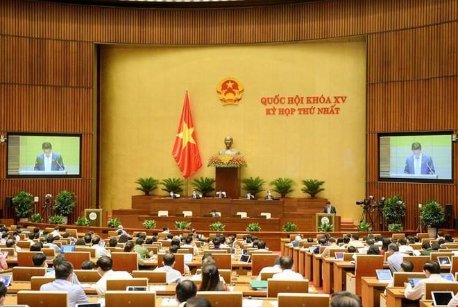 Một phiên họp toàn thể của Quốc hội nhiệm kỳ mới (Ảnh Quochoi.vn).