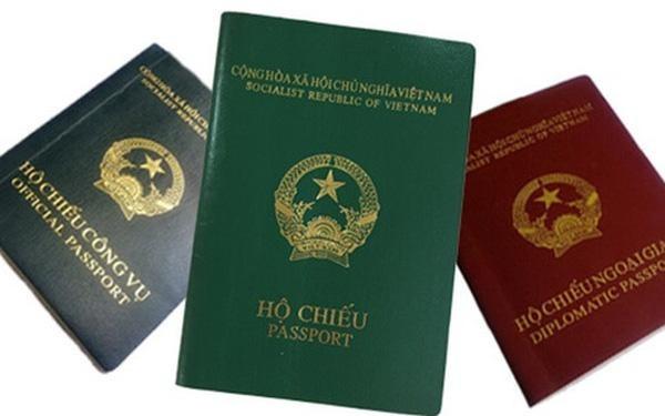 Các mẫu hộ chiếu đang lưu hành hiện tại.