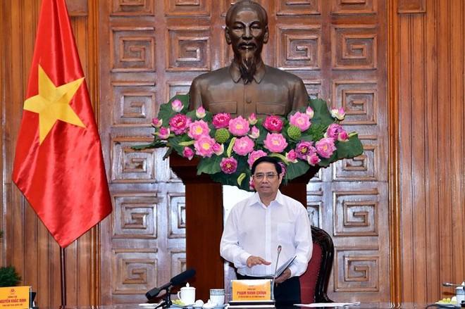 Thủ tướng Phạm Minh Chính chủ trì phiên họp Ban Chỉ đạo quốc gia phòng chống dịch bệnh Covid-19 chiều 25/8 (Ảnh Nhật Bắc)