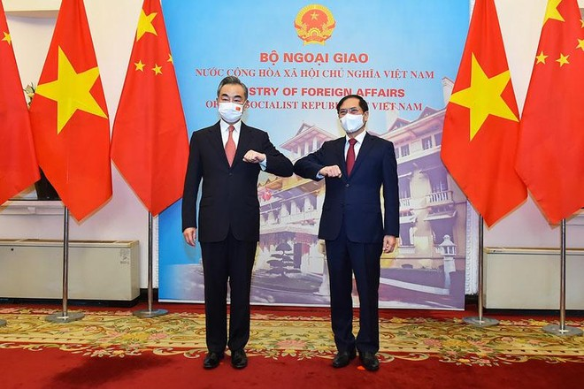 Bộ trưởng Ngoại giao Bùi Thanh Sơn tiếp Bộ trưởng Ngoại giao Trung Quốc Vương Nghị (Ảnh: BNG)