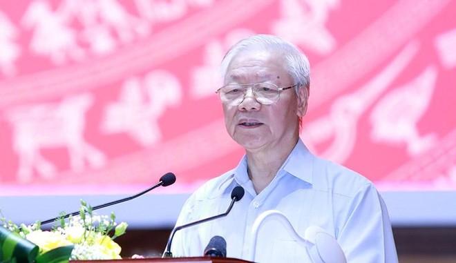 Tổng Bí thư Nguyễn Phú Trọng phát biểu tại Hội nghị toàn quốc các cơ quan nội chính.