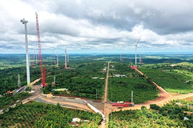Dự án điện gió Ea Nam mới hoàn thành đạt khoảng 80% khối lượng công trình.