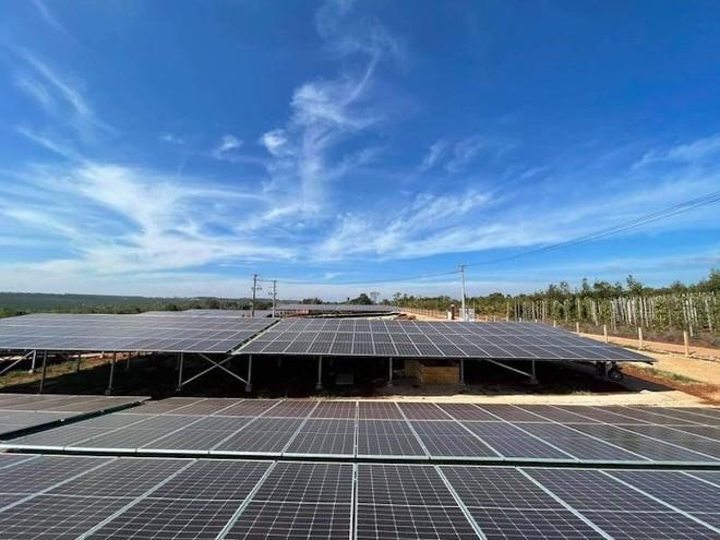 Một dự án điện mặt trời ở Gia Lai.