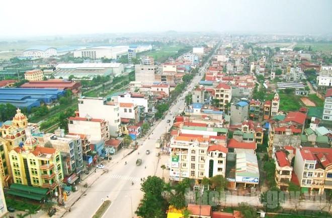 Một góc thị xã Từ Sơn.