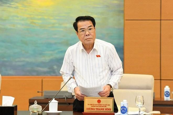 Trưởng Ban Dân nguyện Dương Thanh Bình trình bày báo cáo.