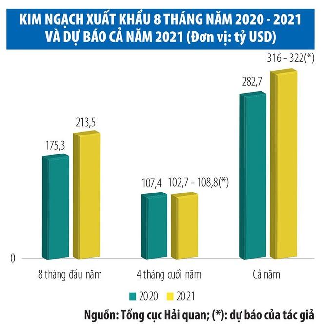 Xuất khẩu năm 2021 kỳ vọng vượt mốc 315 tỷ USD ảnh 1