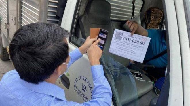 Đã có 592.691 xe được cấp giấy nhận diện thương hiệu tự động trên phần mềm.