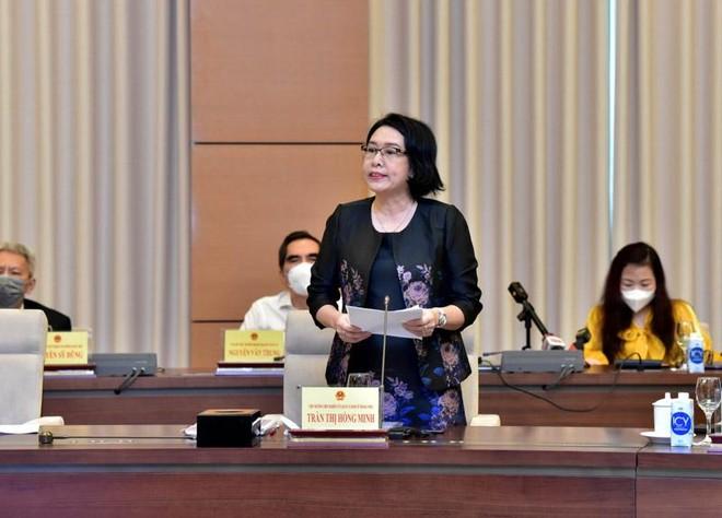 TS. Trần Thị Hồng Minh, Viện trưởng Viện Nghiên cứu quản lý kinh tế Trung ương phát biểu tại toạ đàm.