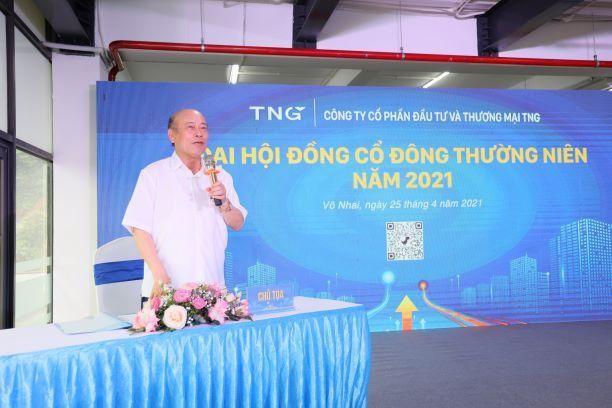 Ông Nguyễn Văn Thời chia sẻ với cổ đông