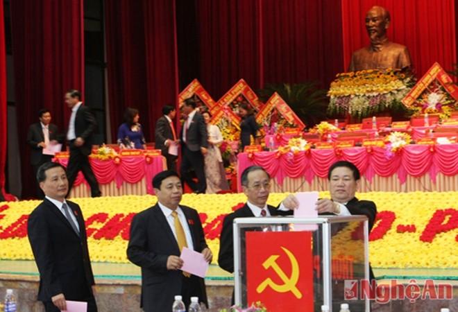 Danh sách Ban Thường vụ, Ban Chấp hành Đảng bộ tỉnh Nghệ An khóa mới ảnh 1