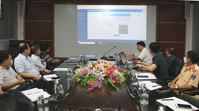 Buổi giới thiệu về phần mềm của Sở Thông tin và Truyền thông tỉnh Vĩnh Phúc. Ảnh: Internet.