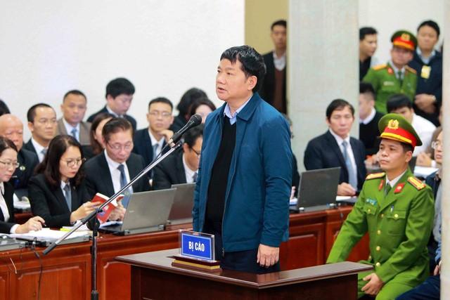 Ông Đinh La Thăng tại phiên xử sơ thẩm