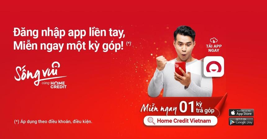 Miễn một kỳ trả góp khi đăng nhập ứng dụng Home Credit