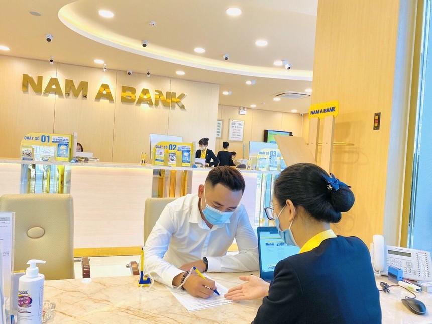Lãi thuần tăng mạnh,6 tháng, Nam A Bank thực hiện 77% kế hoạch lợi nhuận năm