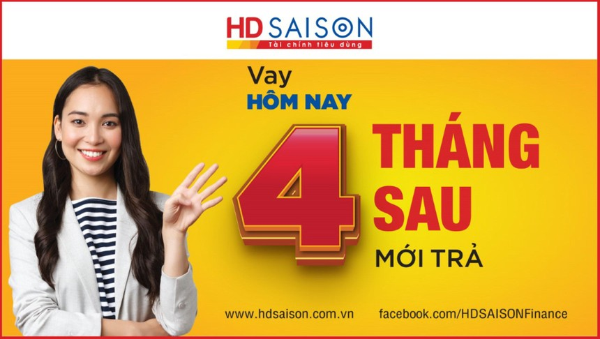 HD SAISON triển khai gói vay tiền mặt với ân hạn thời gian trả nợ thêm 3 tháng cho kỳ đầu tiên.