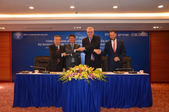 Hòa Phát ký kết với các đối tác cung cấp thiết bị luyện thép cho dự án tại Dung Quất