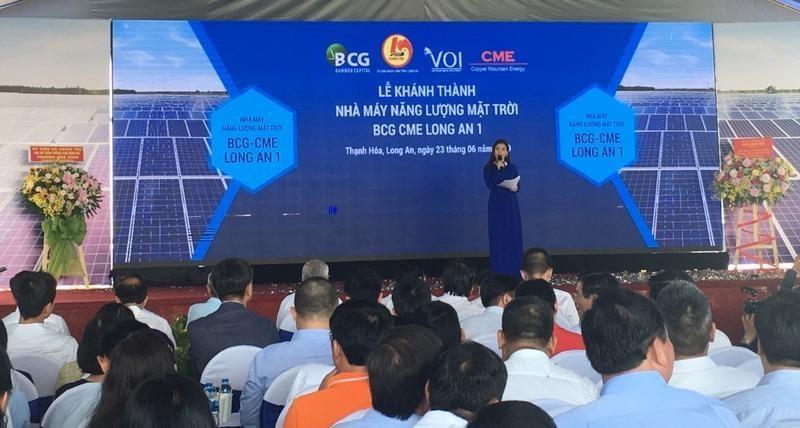 Bamboo Capital (BCG) khánh thành nhà máy điện mặt trời tại Long An