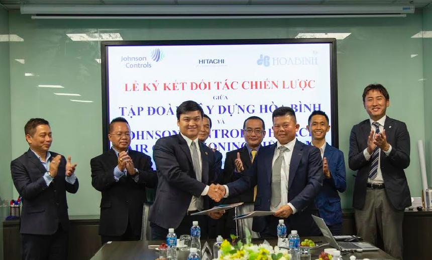 Tập đoàn Hòa Bình (HBC) ký kết hợp tác chiến lược với Johnson Controls - Hitachi Air Conditioning Việt Nam