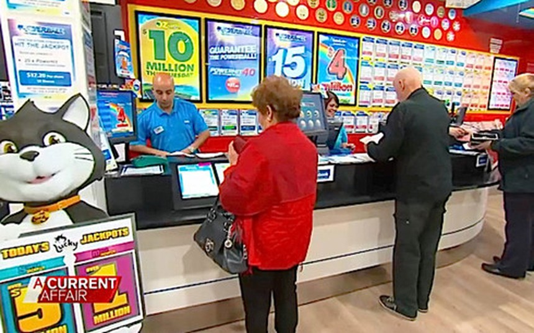 Một cửa hàng xổ số ở Melbourne, Australia (Ảnh: Nine Network)