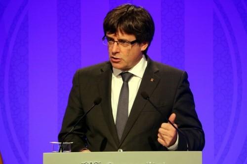 Ông Carles Puigdemont, lãnh đạo vùng tự trị Catalonia. Ảnh: ACN.