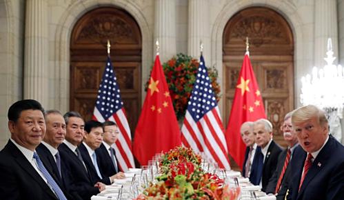 Đoàn lãnh đạo Mỹ - Trung gặp nhau tại G20 ở Argentina tháng 12/2018. Ảnh: Reuters.